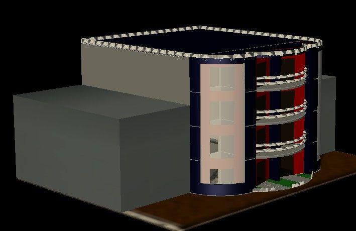 طرح سازه آپارتمانی 5 طبقه به صورت سه بعدی