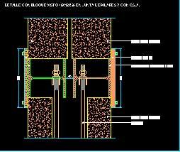 جزئیات اتصال دیوارهای دوبل بلوک های بتنی