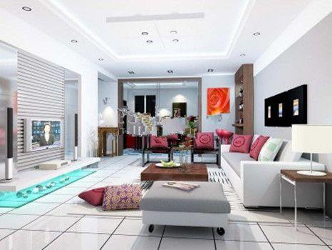 اتاق نشیمن تمیز و راحت 3d