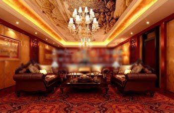 مدل اتاق نشیمن لوکس برای تریدی مکس