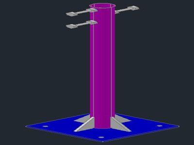 ستون های فلزی و صفحه پایه