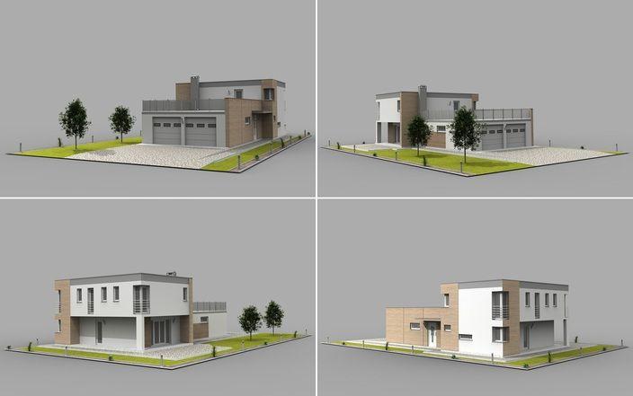 مدل 3 بعدی خانه ویلایی(اسکچ آپ-اتوکد 3 بعدی)