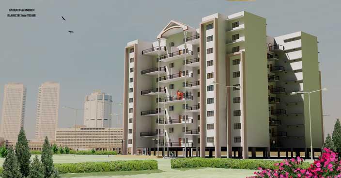 مدل 3 بعدی آپارتمان (autocad 3D)