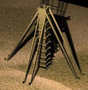 جزئیات سه بعدی قالب بندی ستون