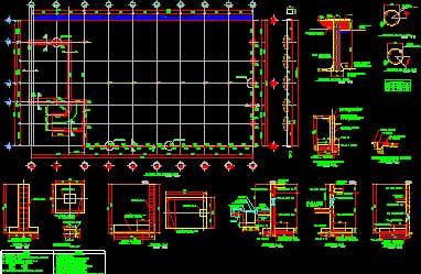 جزئیات فونداسیون سالن های صنعتی