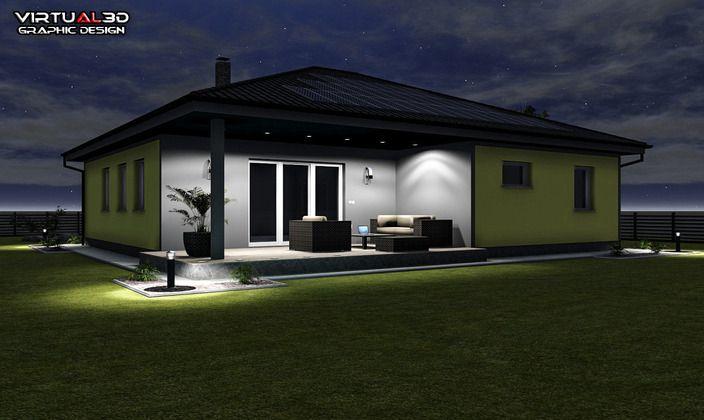نمای بیرونی خانه 13,7x12 متری skp