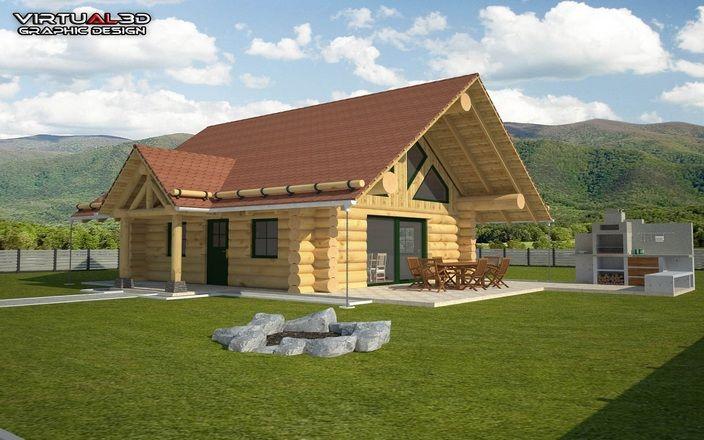 طرح خانه چوبی ویلایی(SKP)