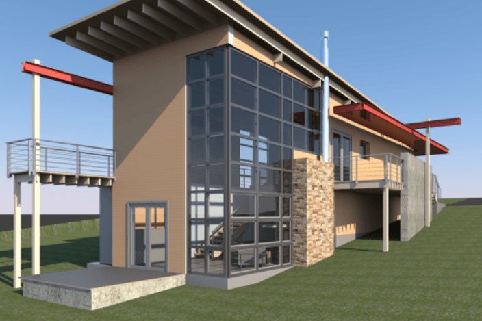 طرح 3 بعدی خانه رویت