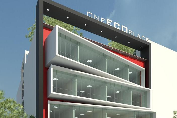 طرح 3 بعدی ساختمان اداری رویت