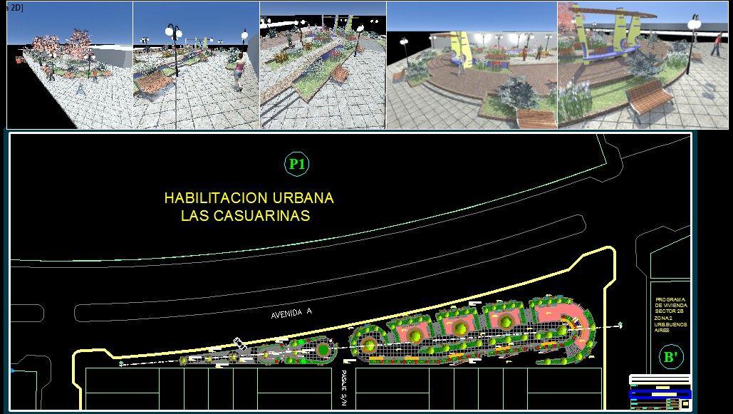 نقشه کامل پارک شهری با عکس 3 بعدی