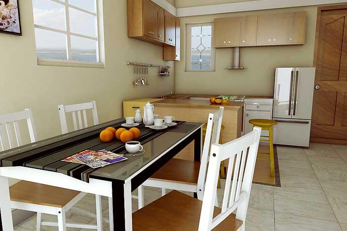 طرح آشپرخانه کار شده با اسکچاپ
