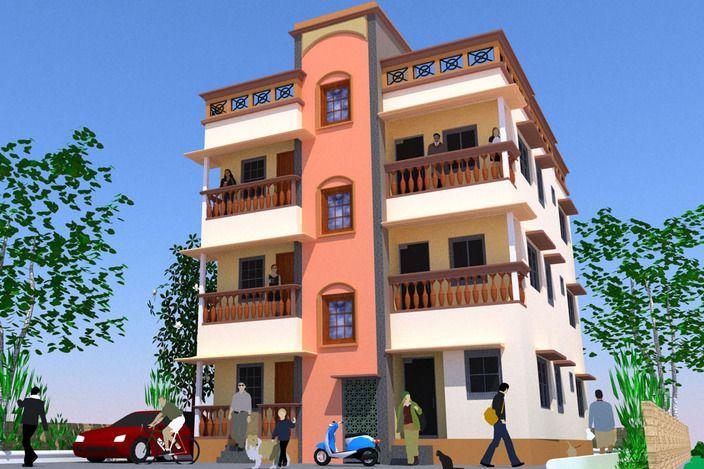مدل 3 بعدی ساختمان تجاری