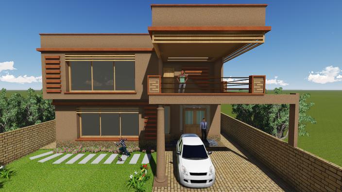 مدل 3 بعدی خانه برای گوگل اسکچاپ
