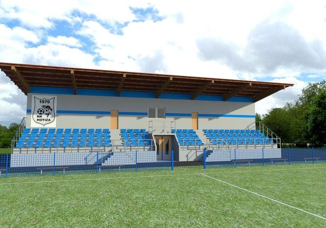 طرح 3 بعدی استادیوم کوچک skp