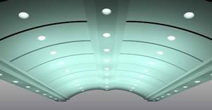 سقف قوسی سه بعدی به همراه متریال - 3ds