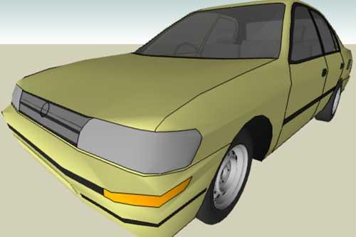 مدل 3 بعدی ماشین 1996 mazda برای اسکچاپ