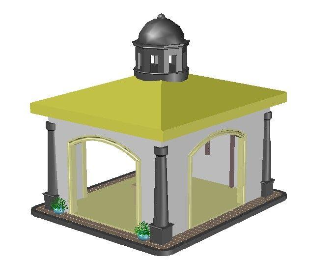 پروژه سه بعدی آرامگاه