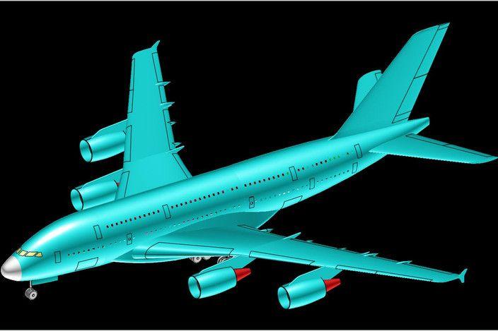 مدل 3 بعدی هواپیمای Airbus A380