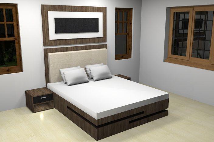 مدل 3 بعدی اتاق خواب skp