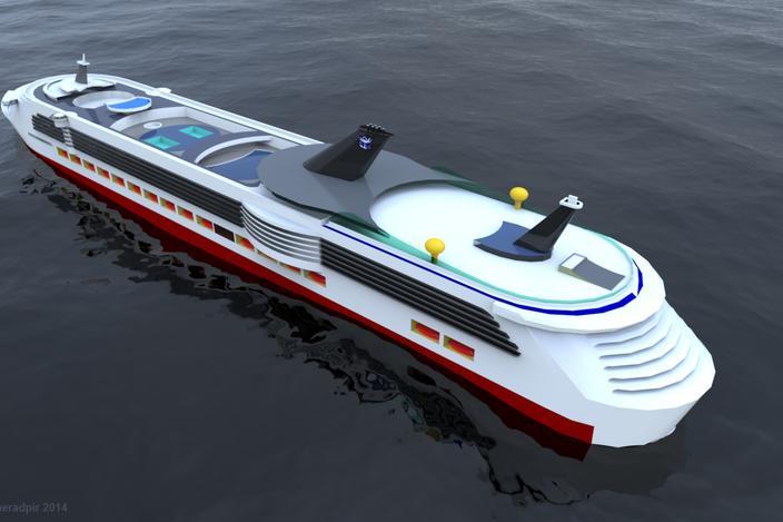مدل آماده کشتی تفریحی کارشده با اسکچاپ