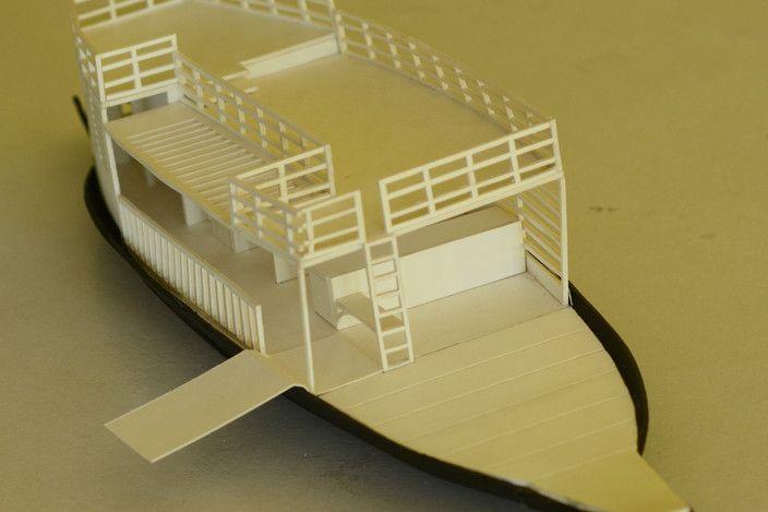 مدل 3 بعدی قایق تفریحی برای اسکچاپ