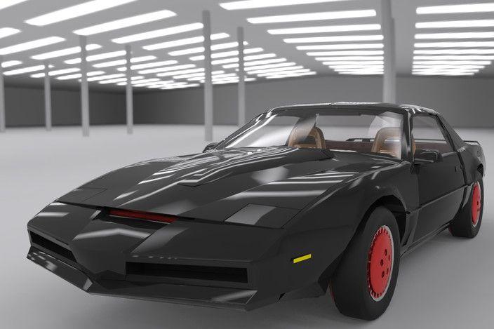 مدل 3 بعدی ماشین KITT برای اسکچاپ