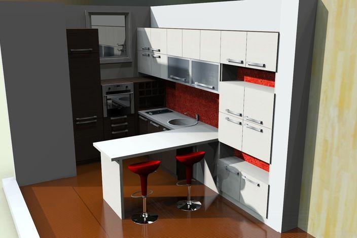 دکوراسیون داخلی آشپزخانه فایل اسکچ آپ