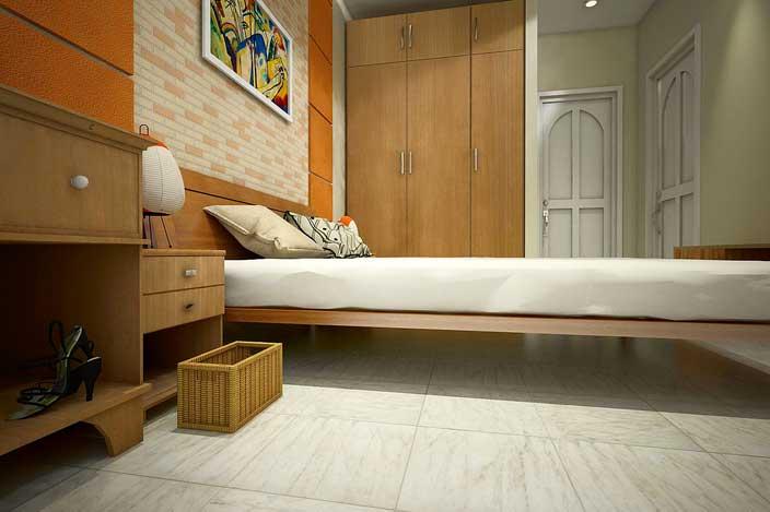 طرح داخلی اتاق خواب فایل اسکچاپ