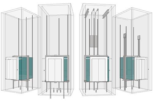 مجموعه مدل 3 بعدی آسانسور