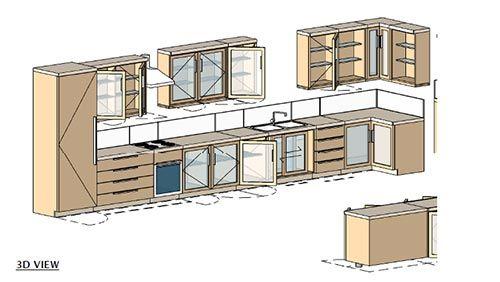 مجموعه مدل کابینت برای revit
