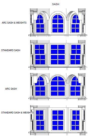 مجموعه مدل پنجره های ارسی برای revit