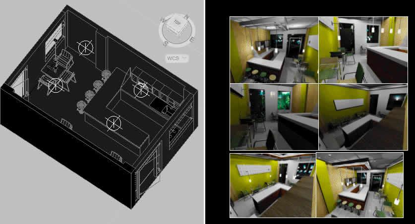 پروژه طرح سه بعدی Coffee bar