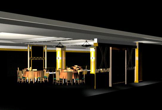 پروژه طرح سه بعدی غرفه ناهارخوری