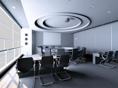 پروژه طرح سه بعدی اتاق کنفرانس در اداره