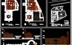 پلان های طبقه نما و برش مسجد تاریخی صاحب الامر تبریز