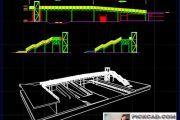 پلان معماری پل عابر هوایی